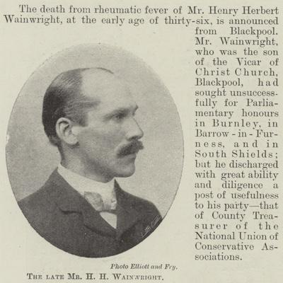 The Late Mr H H Wainwright