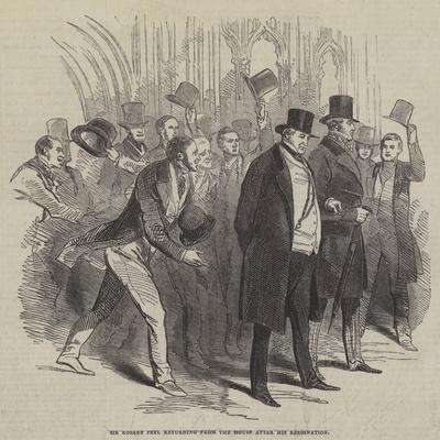 Sir Robert Peel Returning from the House after His Resignation