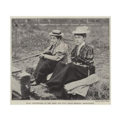 Lady Competitors at the Army and Navy Rifle Meeting, Browndown