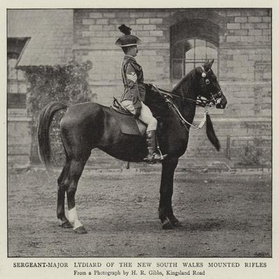 Sergeant-Major Lydiard of the New South Wales Mounted Rifles