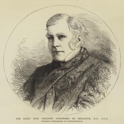 The Right Honourable Viscount Stratford De Redcliffe, Kg, Gcb