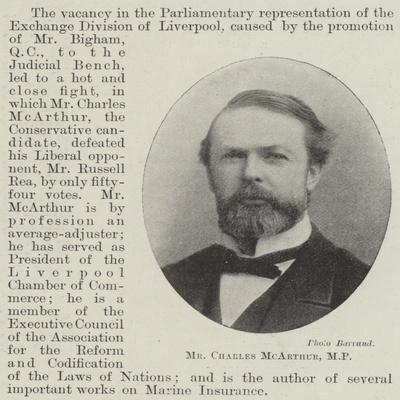 Mr Charles Mcarthur