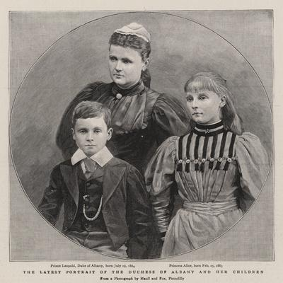 The Latest Portrait of the Duchess of Albany and Her Children