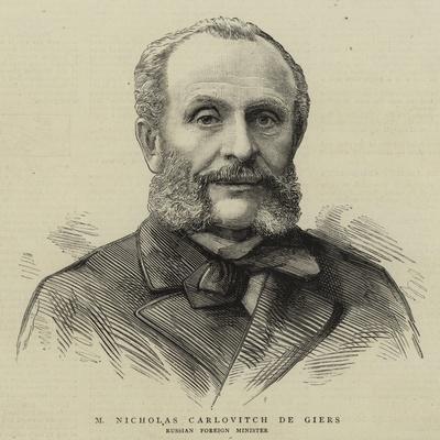 M Nicholas Carlovitch De Giers