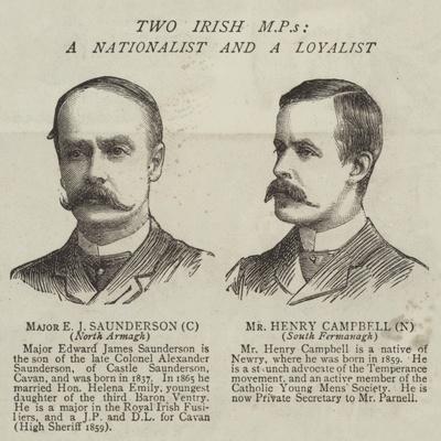 Two Irish Mps, a Nationalist and a Loyalist