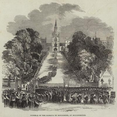 Funeral of the Marquis of Downshire, at Hillsborough