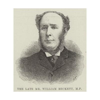 The Late Mr William Beckett