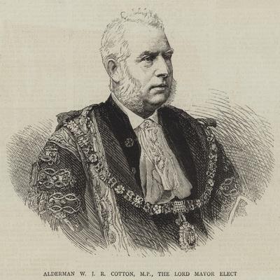 Alderman W J R Cotton, Mp, the Lord Mayor Elect