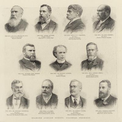 Diamond Jubilee Guests, Colonial Premiers