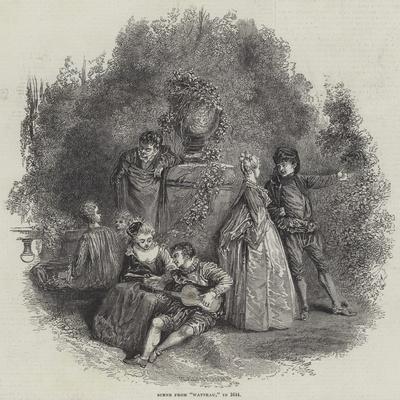 Scene from Watteau, in 1644