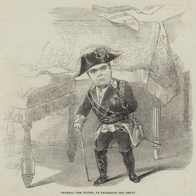 General Tom Thumb, as Frederick the Great