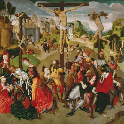 Centre Panel of a Crucifixion Triptych, 1490s