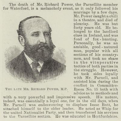 The Late Mr Richard Power