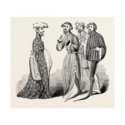 Costume of the Time of Richard II, Sleeves and Shoes