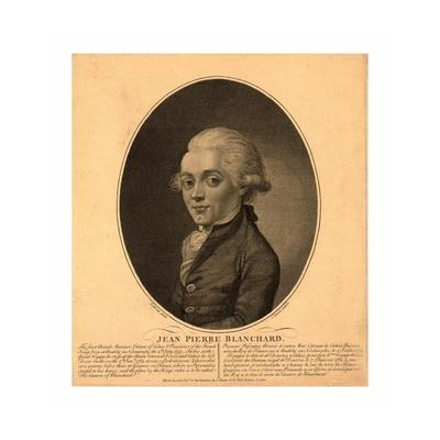 Half-Length Portrait of French Balloonist Jean-Pierre Blanchard, 1785