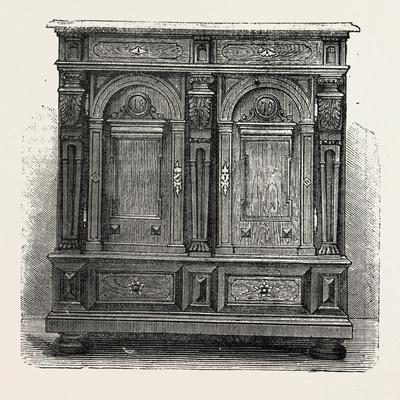 Cabinet for Plate, Furniture, 1882