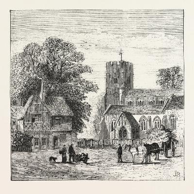 The North of London, Church End, Finchley, 1876, UK