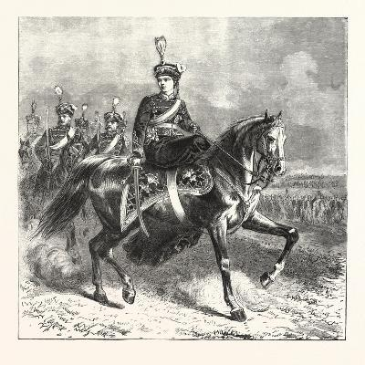 The Crown Princess of Germany as Colonel of Hussars. 1876