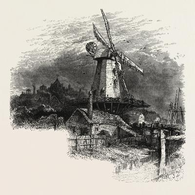 An Old Windmill at Rye, the South Coast, UK, 19th Century