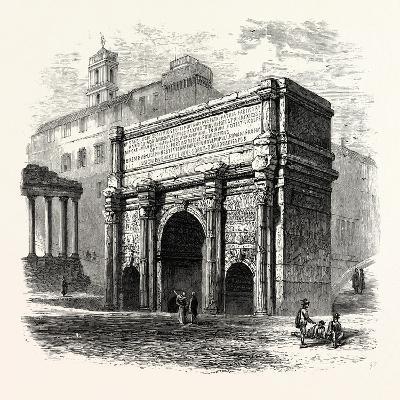 Arch of Septimius Severus in the Roman Forum, Rome, Italy