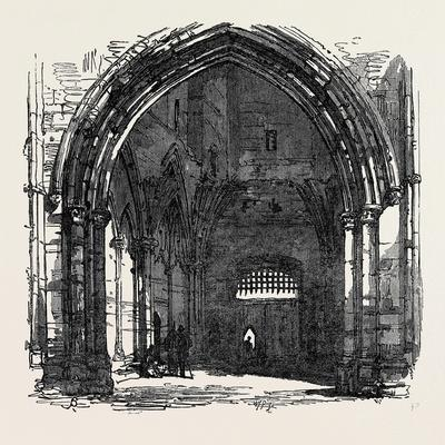 Bury St. Edmunds: Interior of the Abbey Gate 1867
