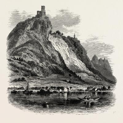 Drachenfels, the Rhine, Germany, 19th Century