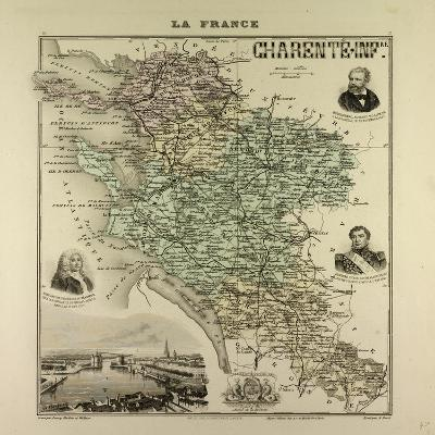 Map of Charente-Inferieure 1896, France