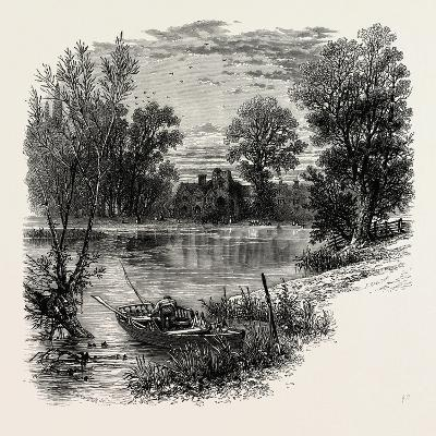 Medmenham Abbey, Scenery of the Thames, UK, 19th Century