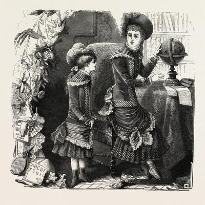 Girls' Outdoor Costumes, Fashion, 1882