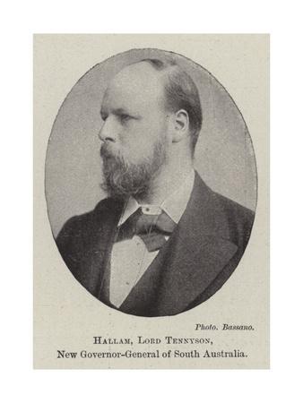 Hallam, Lord Tennyson, New Governor-General of South Australia
