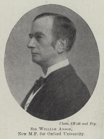 Sir William Anson, New Mp for Oxford University