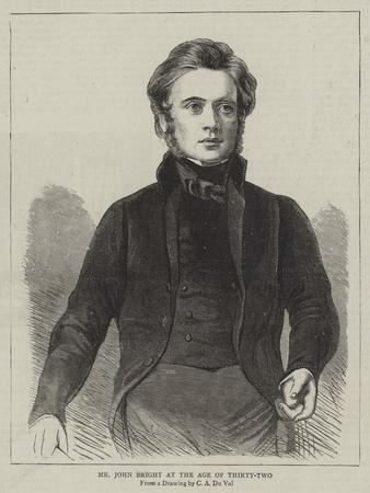Mr John Bright at the Age of Thirty-Two