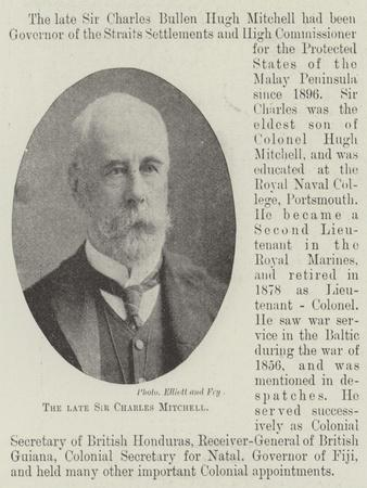 The Late Sir Charles Mitchell