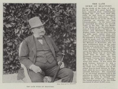 The Late Duke of Beaufort