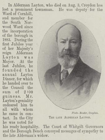 The Late Alderman Layton