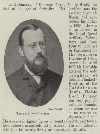 The Late Lord Dunsany