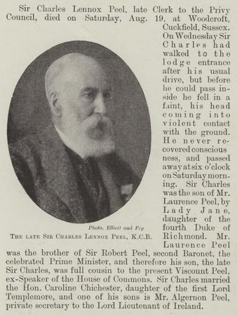 The Late Sir Charles Lennox Peel