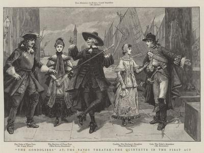 The Gondoliers at the Savoy Theatre, the Quintette in the First Act