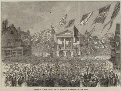 Garibaldi in the Balcony of the Townhall of Newport, Isle of Wight