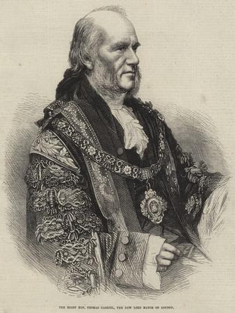 The Right Honourable Thomas Gabriel, the New Lord Mayor of London