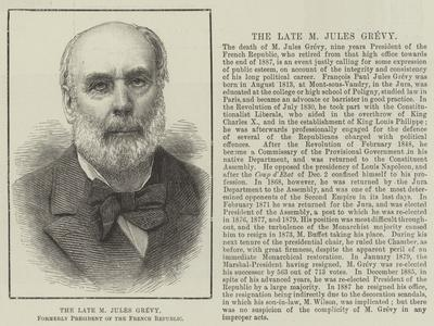 The Late M Jules Grevy, Formerly President of the French Republic