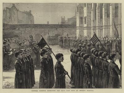 General Schenck Inspecting the Blue Coat Boys at Christ's Hospital