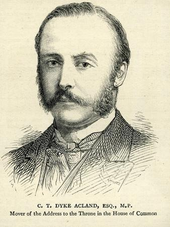 C. T. Dyke Acland Illustration from 'The Graphic' 17th February 1883