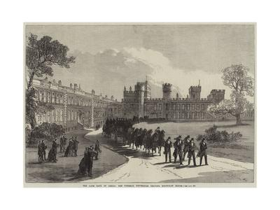 The Late Earl of Derby, the Funeral Procession Leaving Knowsley House