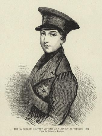 Her Majesty in Military Costume at a Review at Windsor, 1837