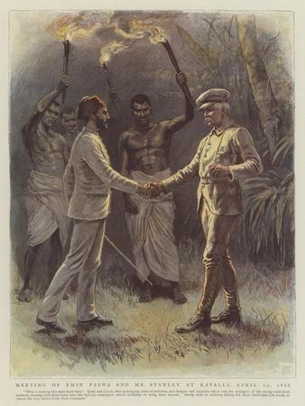 Meeting of Emin Pasha and Mr Stanley at Kavalli, 29 April 1888