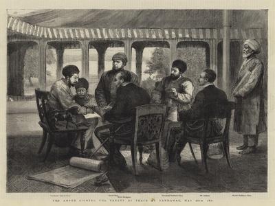 The Ameer Signing the Treaty of Peace at Gandamak, 26 May 1879