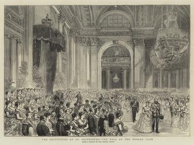 The Festivities at St Petersburg, the Ball at the Nobles' Club