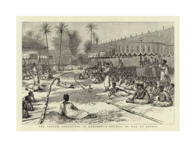 The French Operations in Dahomey, a Council of War at Abomey