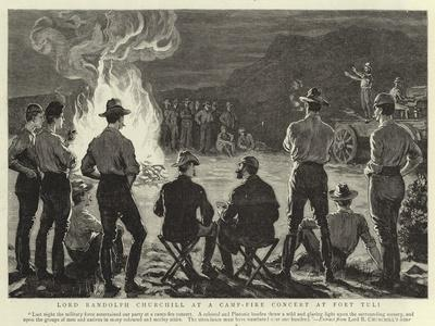 Lord Randolph Churchill at a Camp-Fire Concert at Fort Tuli